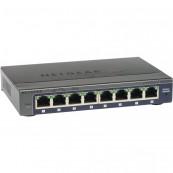 Switch Netgear ProSafe Plus GS108E v3, 8 Porturi 10/100/1000, Managed, Second Hand Retelistica