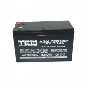 Acumulator stationar VRLA AGM 12V, 7,1Ah, F2/ T2, TED Electric, etans, UPS, Back-UP Retelistica