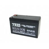 Acumulator stationar VRLA AGM 12V, 9.6 Ah, F2/ T2, TED Electric, Etans, UPS, Back-UP Retelistica