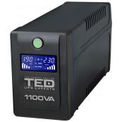 UPS TED Line Interactive 1100VA/600W, display LCD, 4 x Schuko Retelistica