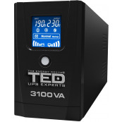 UPS TED Line Interactive 3100VA/1800W, display LCD, 3 x Schuko Retelistica