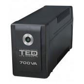 UPS TED Electric 700VA / 400W Line Interactive, 2 iesiri schuko, TED-700 Retelistica