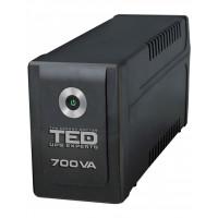 UPS TED Electric 700VA / 400W Line Interactive, 2 iesiri schuko, TED-700
