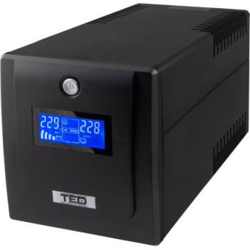 UPS 1300VA / 750W, LCD, Cu stabilizator, 4 iesiri schuko, TED Electric Retelistica