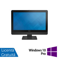 All In One DELL 9030, 23 Inch Full HD, Intel Core i5-4690S 3.20GHz, 4GB DDR3, 120GB SSD, DVD-RW + Windows 10 Pro