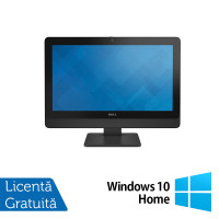 All In One DELL 9030 23 Inch Full HD LED, Intel Core i5-4590s 3.00GHz, 8GB DDR3, 120GB SSD, DVD-RW, Fara picior + Windows 10 Home