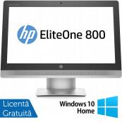 All In One HP EliteOne 800 G2, 23 Inch Full HD, Intel Core i5-6500 3.20GHz, 16GB DDR4, 240GB SSD, DVD-RW, Webcam + Windows 10 Home, Refurbished All In One