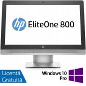 All In One HP EliteOne 800 G2, 23 Inch Full HD, Intel Core i5-6500 3.20GHz, 16GB DDR4, 240GB SSD, DVD-RW, Webcam + Windows 10 Pro, Refurbished All In One