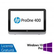 All In One HP Pro One 400 G1, 19.5 Inch 1600 x 900, Intel Core i3-4130T 2.90GHz, 4GB DDR3, 120GB SSD, DVD-RW + Windows 10 Pro, Refurbished All In One