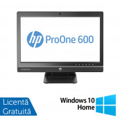 Calculator All In One HP ProOne 600 G1 21.5 Inch, Intel Core i5-4570S 2.90GHz, 4GB DDR3, 500GB SATA, DVD-ROM + Windows 10 Home, Refurbished All In One