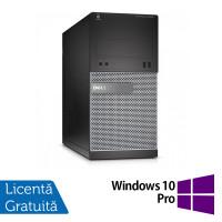 Calculator DELL Optiplex 3020 Tower, Intel Core i3-4130 3.40 GHz, 4GB DDR3, 250GB SATA, DVD-ROM + Windows 10 Pro