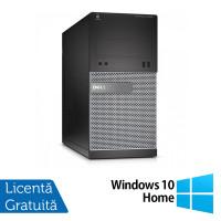 Calculator DELL Optiplex 3020 Tower, Intel Core i3-4130 3.40GHz, 4GB DDR3, 500GB SATA, DVD-ROM + Windows 10 Home