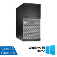 Calculator DELL Optiplex 3020 Tower, Intel Core i3-4130 3.40GHz, 4GB DDR3, 500GB SATA, DVD-ROM + Windows 10 Home