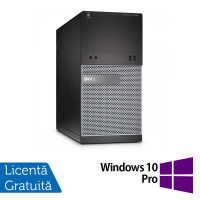 Calculator DELL Optiplex 3020 Tower, Intel Core i3-4160 3.60 GHz, 4GB DDR3, 250GB SATA, DVD-RW + Windows 10 Pro