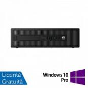 Calculator HP Prodesk 600G1 SFF, Intel Core i3-4130 3.40GHz, 4GB DDR3, 500GB SATA, DVD-RW + Windows 10 Pro, Refurbished Calculatoare Refurbished