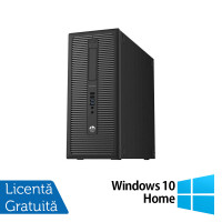 Calculator HP Prodesk 600G1 Tower, Intel Core i3-4130 3.40GHz, 8GB DDR3, 500GB SATA + Windows 10 Home