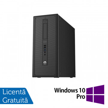 Calculator HP Prodesk 600G1 Tower, Intel Core i3-4130 3.40GHz, 8GB DDR3, 500GB SATA + Windows 10 Pro, Refurbished Calculatoare Refurbished