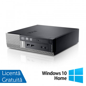 Calculator Dell Optiplex 7010 USFF, Intel Core i3-3240 3.40GHz, 4GB DDR3, 120GB SSD, DVD-RW + Windows 10 Home, Refurbished Calculatoare Refurbished