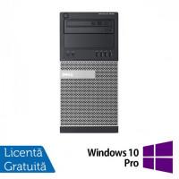 Calculator DELL Optiplex 9020 Tower, Intel Core i5-4570 3.20GHz, 4GB DDR3, 250GB SATA, DVD-ROM + Windows 10 Pro