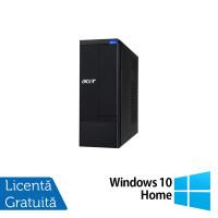 Calculator Acer Aspire X1930 SFF, Intel Pentium G630 2.70GHz, 4GB DDR3, 500GB SATA, DVD-RW + Windows 10 Home