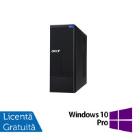 Calculator Acer Aspire X1930 SFF, Intel Pentium G630 2.70GHz, 4GB DDR3, 500GB SATA, DVD-RW + Windows 10 Pro