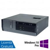 Calculator DELL 3010 SFF, Intel Core i3-3220 3.30GHz, 4GB DDR3, 250GB SATA, DVD-ROM + Windows 10 Pro, Refurbished Calculatoare Refurbished