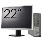 Calculator DELL 3010 SFF, Intel Core i5-3470 3.20GHz, 4GB DDR3, 500GB SATA, DVD-ROM + Monitor 22 Inch, Second Hand Calculatoare Second Hand
