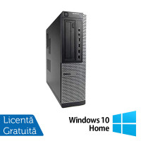 Calculator DELL OptiPlex 7010 Desktop, Intel Core i3-2100 3.10GHz, 4GB DDR3, 250GB SATA, DVD-RW + Windows 10 Home