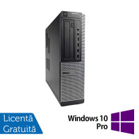 Calculator DELL OptiPlex 7010 Desktop, Intel Core i3-2100 3.10GHz, 4GB DDR3, 250GB SATA, DVD-RW + Windows 10 Pro