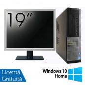 Pachet Calculator DELL OptiPlex 7010 Desktop, Intel Core i5-3550 3.30GHz, 4GB DDR3, 500GB SATA, DVD-RW + Monitor 19 Inch + Windows 10 Home, Refurbished Oferte Pachete IT