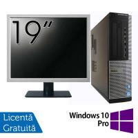 Pachet Calculator DELL OptiPlex 7010 Desktop, Intel Core i5-3550 3.30GHz, 4GB DDR3, 500GB SATA, DVD-RW + Monitor 19 Inch + Windows 10 Pro