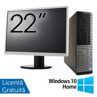 Pachet Calculator DELL OptiPlex 7010 Desktop, Intel Core i5-3550 3.30GHz, 4GB DDR3, 500GB SATA, DVD-RW + Monitor 22 Inch + Windows 10 Home