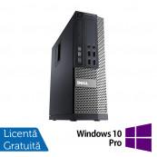 Calculator DELL OptiPlex 7010 SFF, Intel Core i3-3245 3.40GHz, 4GB DDR3, 500GB SATA, DVD-RW + Windows 10 Pro, Refurbished Calculatoare Refurbished