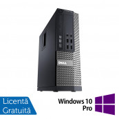 Calculator DELL OptiPlex 7010 SFF, Intel Core i5-3470s 2.90 GHz, 4GB DDR3, 250GB SATA, DVD-RW + Windows 10 Pro, Refurbished Calculatoare Refurbished