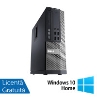 Calculator DELL OptiPlex 7010 SFF, Intel Pentium G2020 2.90GHz, 4GB DDR3, 250GB SATA + Windows 10 Home
