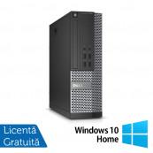 Calculator DELL OptiPlex 7020 SFF, Intel Core i3-4160 3.60GHz, 4GB DDR3, 500GB SATA, DVD-RW + Windows 10 Home, Refurbished Calculatoare Refurbished