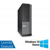 Calculator DELL 3020 SFF, Intel Core i3-4130 3.40 GHz, 4GB DDR3, 250GB SATA, DVD-ROM + Windows 10 Home, Refurbished Calculatoare Refurbished