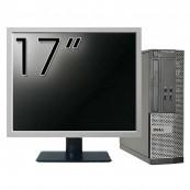 Calculator DELL Optiplex 3020 SFF, Intel Pentium G3220 3.00GHz, 4GB DDR3, 500GB SATA, DVD-RW + Monitor 17 Inch, Second Hand Calculatoare Second Hand