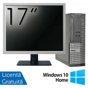 Calculator DELL Optiplex 3020 SFF, Intel Pentium G3220 3.00GHz, 4GB DDR3, 500GB SATA, DVD-RW + Monitor 17 Inch + Windows 10 Home, Refurbished Calculatoare Refurbished