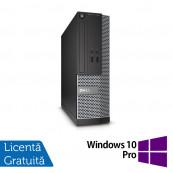 Calculator DELL 3020 SFF, Intel Core i3-4130 3.40 GHz, 4GB DDR3, 500GB SATA, DVD-ROM + Windows 10 Pro, Refurbished Intel Core i3