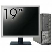 Calculator DELL 3020 SFF, Intel Core i3-4130 3.40 GHz, 4GB DDR3, 500GB SATA, DVD-RW + Monitor 19 Inch, Second Hand Calculatoare Second Hand