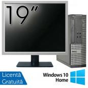 Calculator DELL 3020 SFF, Intel Core i3-4130 3.40GHz, 4GB DDR3, 500GB SATA, DVD-RW + Monitor 19 Inch + Windows 10 Home, Refurbished Calculatoare Refurbished