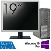 Calculator DELL 3020 SFF, Intel Core i3-4130 3.40GHz, 4GB DDR3, 500GB SATA, DVD-RW + Monitor 19 Inch + Windows 10 Pro, Refurbished Calculatoare Refurbished