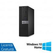 Calculator DELL Optiplex 3040 SFF, Intel Core i3-6100 3.70GHz, 4GB DDR3, 500GB SATA, DVD-RW + Windows 10 Home, Refurbished Calculatoare Refurbished