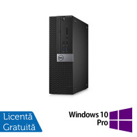 Calculator DELL Optiplex 3040 SFF, Intel Core i3-6100 3.70GHz, 4GB DDR3, 500GB SATA, DVD-RW + Windows 10 Pro
