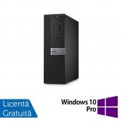 Calculator DELL Optiplex 3040 SFF, Intel Pentium G4400 3.30GHz, 4GB DDR3, 500GB SATA, DVD-RW + Windows 10 Pro, Refurbished Calculatoare Refurbished