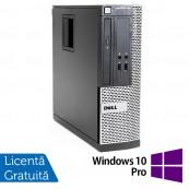Calculator Dell OptiPlex 390 SFF, Intel Core i3-2100 3.10GHz, 4GB DDR3, 250GB SATA, DVD-ROM + Windows 10 Pro, Refurbished Calculatoare Refurbished