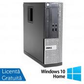 Calculator Dell OptiPlex 390 SFF, Intel Core i3-2100 3.10GHz, 4GB DDR3, 250GB SATA, Radeon HD7470 1GB DDR3, DVD-ROM + Windows 10 Home, Refurbished Calculatoare Refurbished