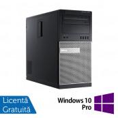 Calculator DELL Optiplex 7010 Tower, Intel Celeron G1610 2.60GHz, 4GB DDR3, 250GB SATA, DVD-RW + Windows 10 Pro, Refurbished Calculatoare Refurbished