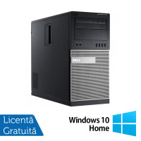 Calculator DELL Optiplex 7010 Tower, Intel Core i3-2100 3.10GHz, 4GB DDR3, 250GB SATA, DVD-RW + Windows 10 Home